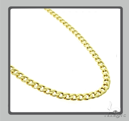 10K Hollow Traxnyc Miami Cuban Chain 28 Inches 6mm 22.6 Grams Gold