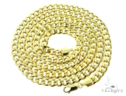 10K Hollow Traxnyc Miami Cuban Chain 28 Inches 7mm 28 Grams Gold