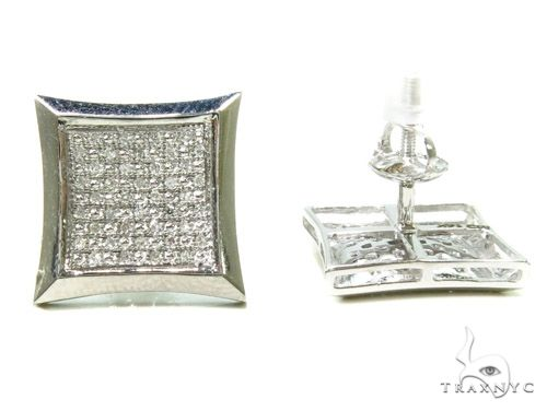 14K Micro-Pave Diamond Earrings 37666 63424 Stone
