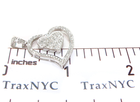 10K Prong Diamond Heart Pendant 32327 Style