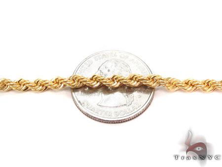 10K Rope Bracelet 33055 Gold