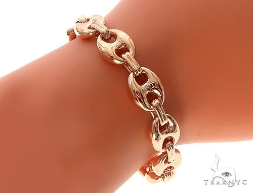 10K Rose Gold Gucci Link Bracelet 65345 Gold