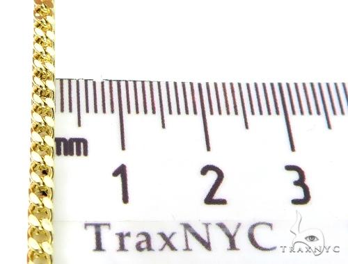 10K Semi Hollow Traxnyc Franco Chain 30 Inches 2.5mm 13 Grams Gold