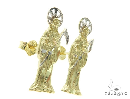 10K The Grim Reaper Earrings 57417 Metal