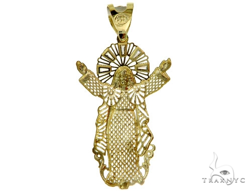10K Two Tone Gold Jesus Pendant 57101 Metal
