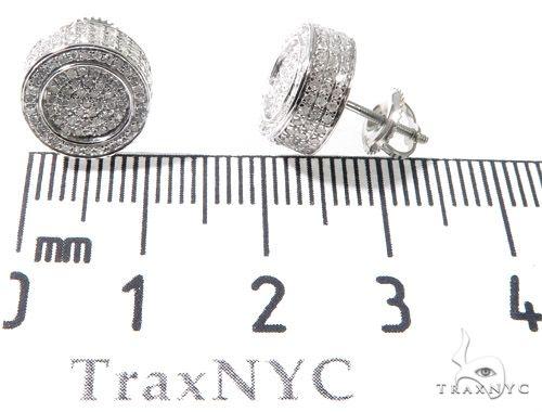 10K WG Micro Pave Diamond Round Earrings Stone
