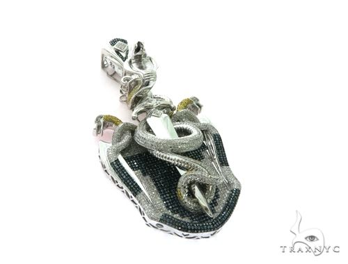 10K White Gold Diamond Design Pendant. 63476 Metal