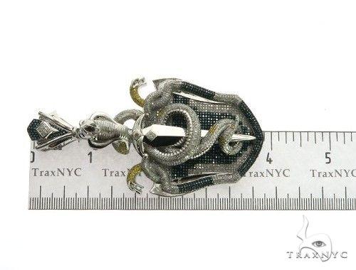 10K White Gold Diamond Design Pendant. 63476 Metal