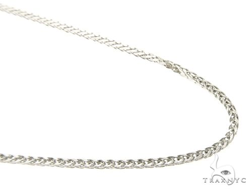10K White Gold Hollow Wheat Chain 20 Inches 1.70MM 3.37 Grams 63767 Gold