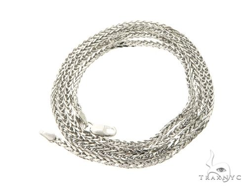 10K White Gold Hollow Wheat Chain 24 Inches 1.70MM 4 Grams 63769 Gold
