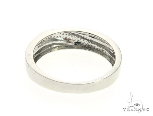 10K White Gold Micro Pave Diamond Ring 63604 Stone