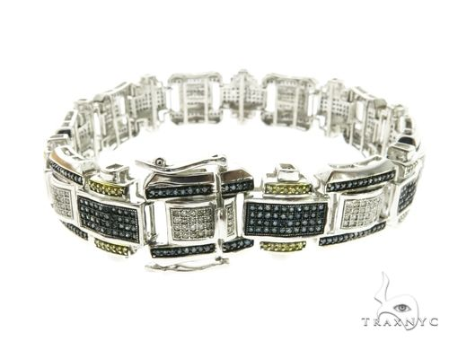 10K White Gold Tri Color Bracelet 63751 Diamond