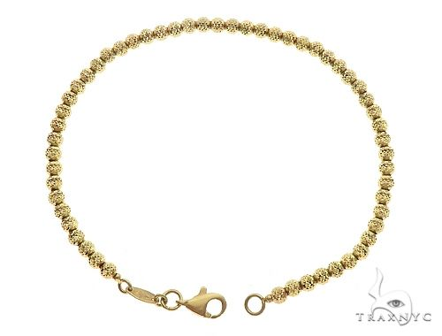 10K YG Laser Moon Cut Bracelet 7 Inches 3mm 3.9 Grams 65602 Gold