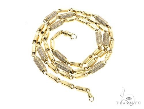 10K Yellow Gold 30 Inches 5MM Pencil & Round Chain 63847 Gold