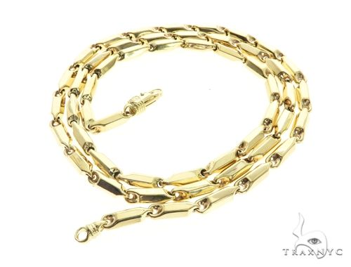 10K Yellow Gold 30 Inches 5MM Pencil Chain 63842 Gold
