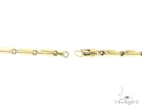 10K Yellow Gold 30 Inches 5MM Square Chain 63827 Gold