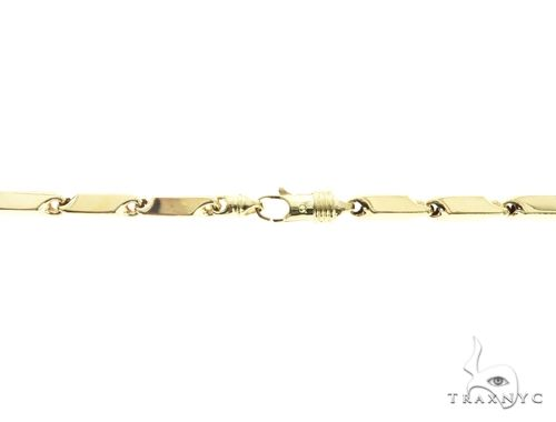 10K Yellow Gold 28 Inches 6MM Square Chain 63825 Gold