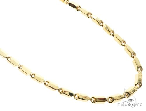 10K Yellow Gold 30 Inches 8MM Pencil Chain 63845 Gold
