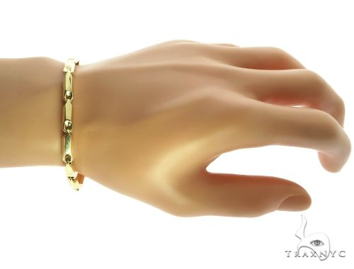 10K Yellow Gold 5MM Pencil Bracelet 63829 Gold