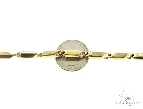10K Yellow Gold 6MM Pencil Bracelet 63844 Gold