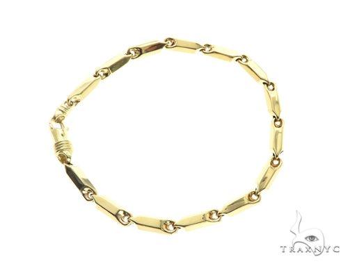10K Yellow Gold 4MM Pencil Bracelet 63828 Gold