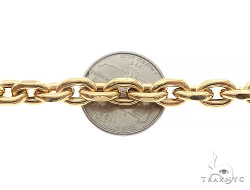 10K Yellow Gold Anchor Hollow Bracelet 8 Inches 7mm 12.5 Grams 65551 Gold