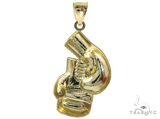 10K Yellow Gold Boxing Gloves Pendant 57068 Metal