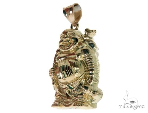 10K Yellow Gold Buddha Charm Pendant 61695 Metal