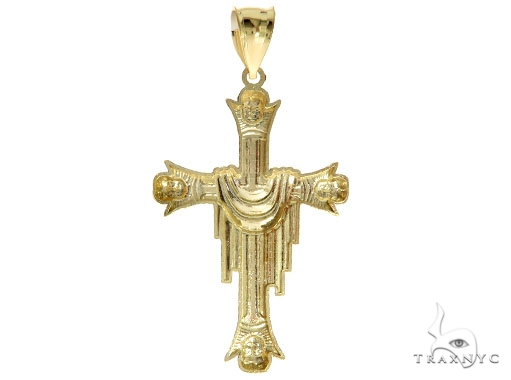 10K Yellow Gold Cross Crucifix 57088 Gold