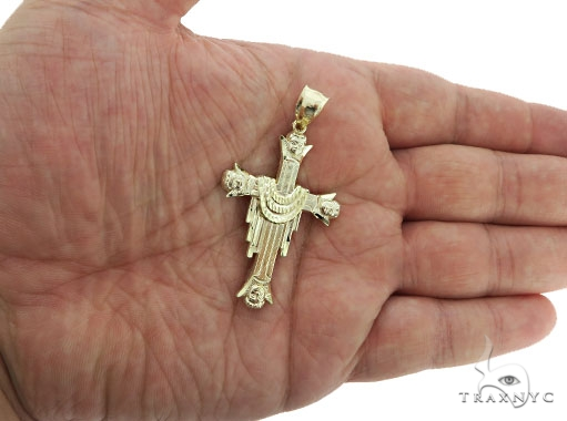 10K Yellow Gold Cross Crucifix 57088 Gold