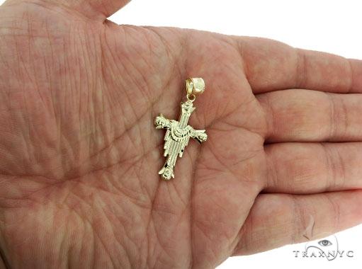 10K Yellow Gold Cross Crucifix 57089 Gold