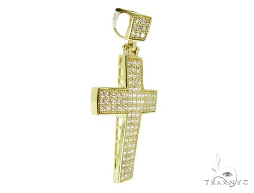 10K Yellow Gold Cross Crucifix Pendant 56862 Gold