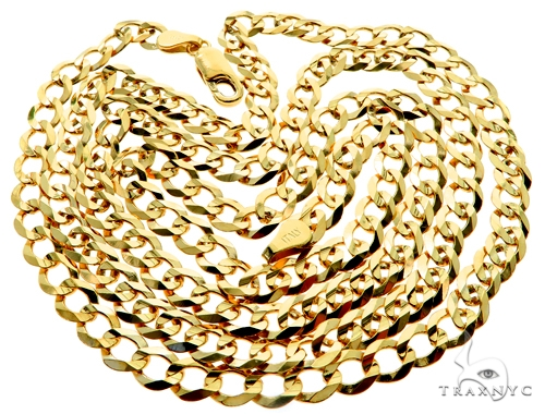 10KY Cuban Curb Link Chain 26 Inches 5mm 13.0 Grams 57241 Gold