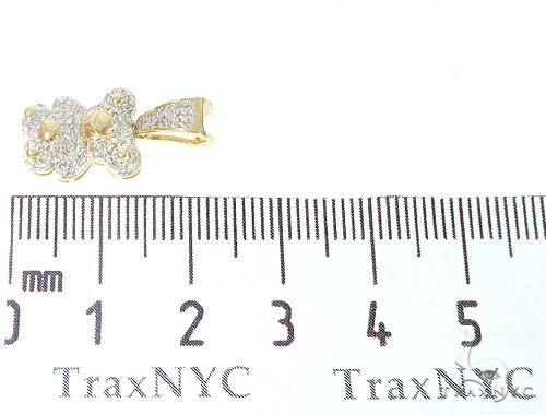 10K Yellow Gold Diamond Bear Pendant 65142 Stone