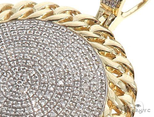 10K Yellow Gold Diamond Circle Pendant 64764 Metal