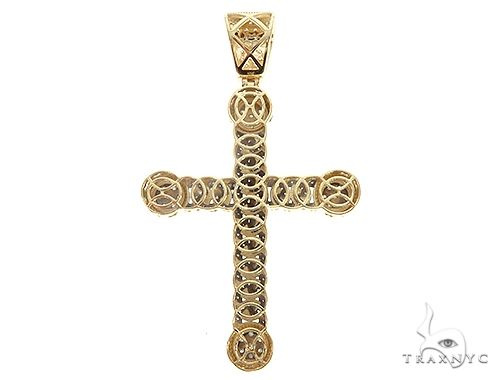 10K Yellow Gold Diamond Cuban Cross 65258 Metal