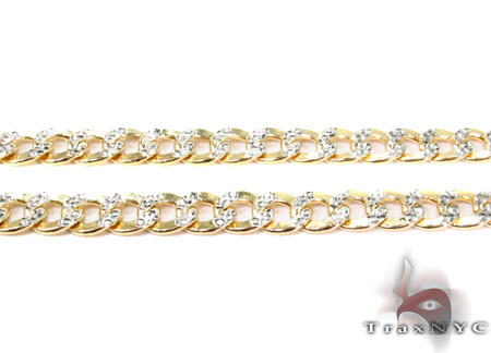 10K Yellow Gold Diamond Cut Cuban Chain 22 Inches 6.5mm 15.5 Grams Gold