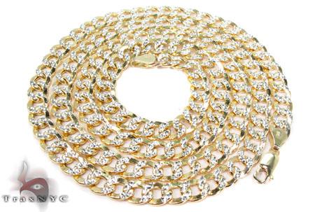 10K Yellow Gold Diamond Cut Cuban Chain 24 Inches 6mm 18.5 Grams Gold