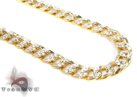 10K Yellow Gold Diamond Cut Cuban Chain 28 Inches 7mm 26.4 Grams Gold