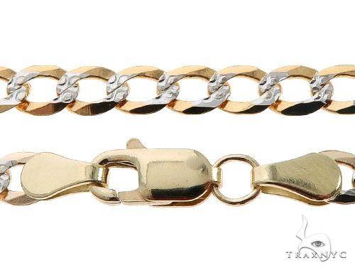 10K Yellow Gold Diamond Cut Cuban Curb Link Chain 22 Inches 4.3mm 7.7 Grams Gold