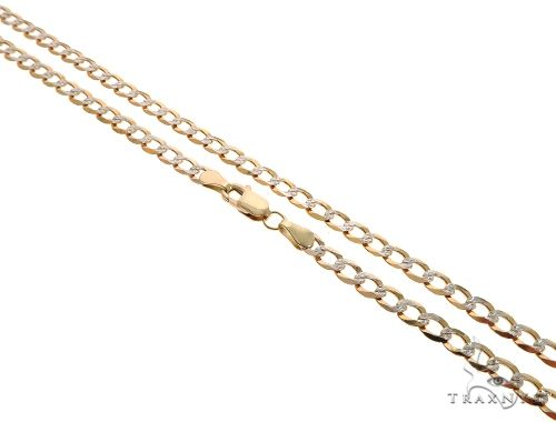 10K Yellow Gold Diamond Cut Cuban Curb Link Chain 26 Inches 4.3mm 9.1 Grams Gold