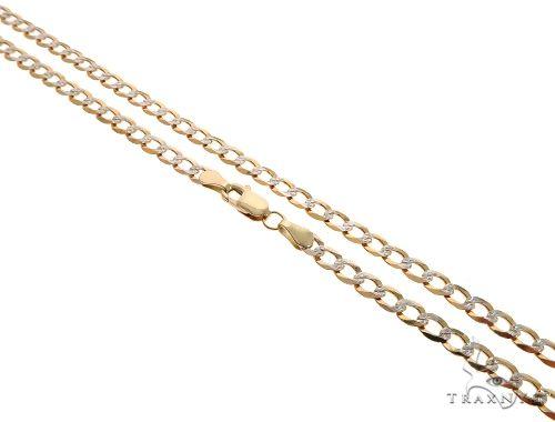10K Yellow Gold Diamond Cut Cuban Curb Link Chain 28 Inches 4.3mm 9.8 Grams Gold