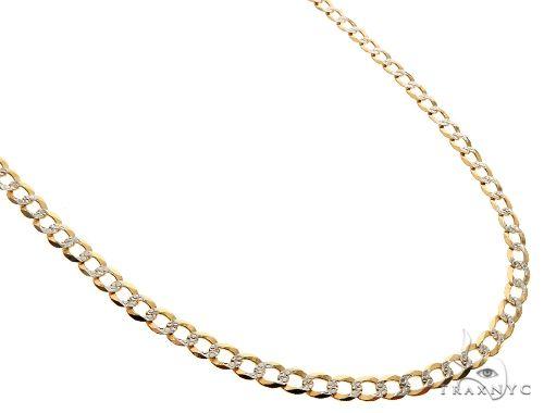 20 Inches Diamond Cut Cuban Curb Chain 22 Inches, 24 Inches, 26 Inches, 28 Inches, 30 Inches Gold