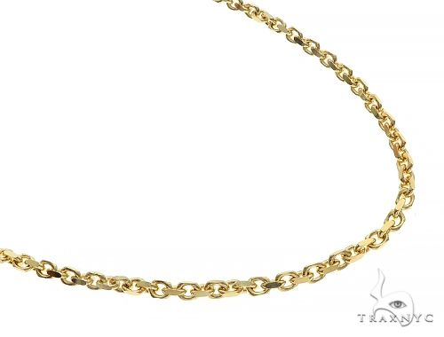 10K Yellow Gold Diamond Cut Solid Anchor Chain 24 Inches 2.5mm 18.8 Grams 66501 Gold