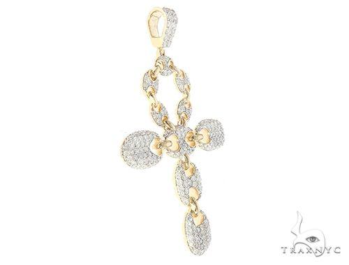 10K Yellow Gold Diamond Gucci Cross 65389 Diamond
