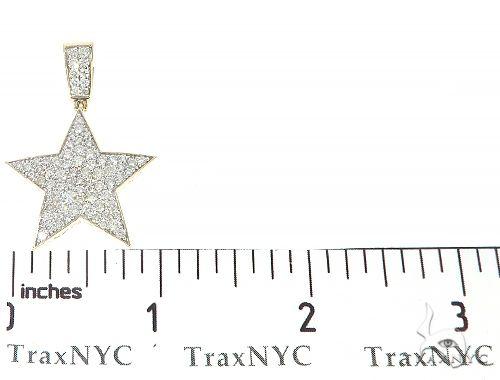 10K Yellow Gold Diamond Star Pendant 65208 Metal