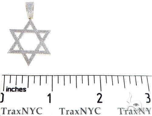 10K Yellow Gold Diamond Star of David Pendant 64763 Metal