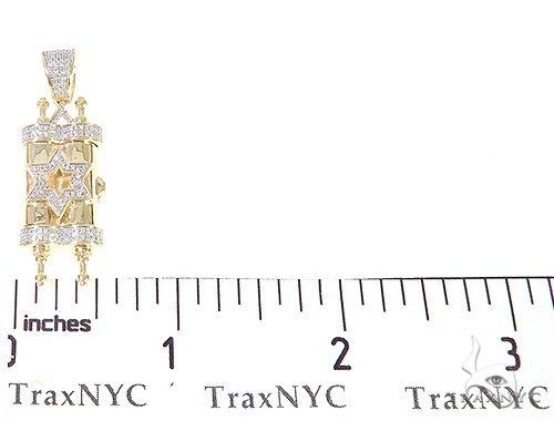 10K Yellow Gold Diamond Torah Pendant 65143 Metal