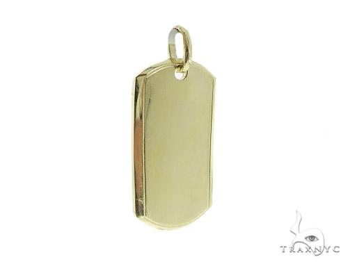 10K Yellow Gold Dog Tag 49750 Gold