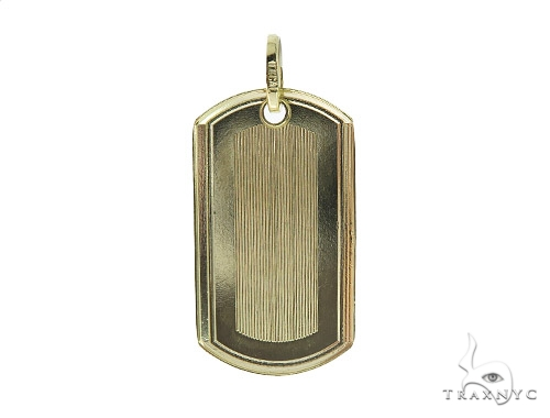 10K Yellow Gold Dog Tag 49750 Gold